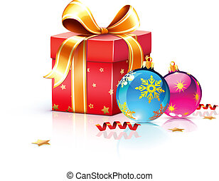 Christmas decorations - Vector illustration of funky gift ...