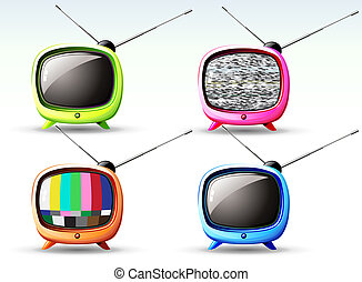 cute television - Vector illustration of funky styled design...