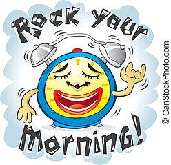 Vector illustration of Funny Alarm