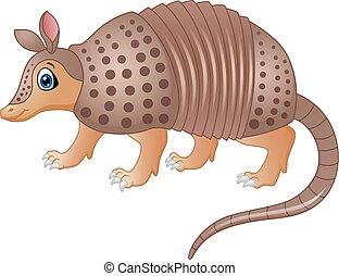 Funny armadillo cartoon