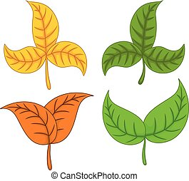 funny autumn leaves cartoon