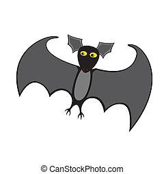 Vector illustration of funny bat