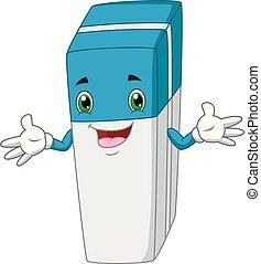 Funny carton eraser waving hand