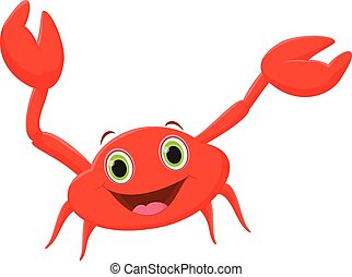 funny cartoon crab