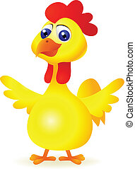 funny chicken cartoon