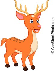 funny deer cartoon posing with laughing