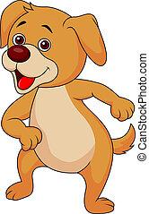 Funny dog cartoon dancing