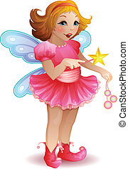 Vector illustration of funny fairy