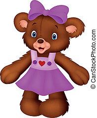 Funny female bear cartoon