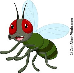 funny flies cartoon posing with smiling