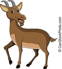 vector illustration of funny goat cartoon
