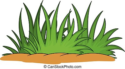 funny green grass cartoon