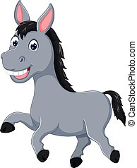 funny horse cartoon running with laughing