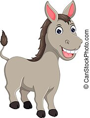 funny horse cartoon standing with laughing