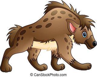 Funny hyena cartoon