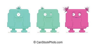 Vector illustration of funny monsters