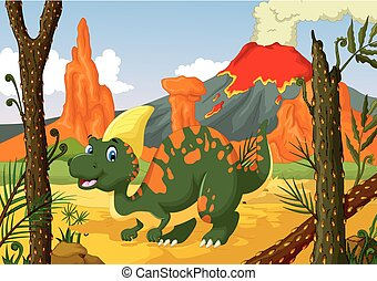 funny Parasaurolophus cartoon