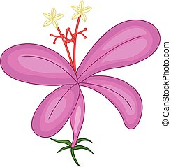 funny purple orchid cartoon