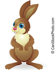 Funny Rabbit - Vector Illustration Of Funny Rabbit