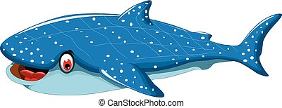 funny shark cartoon for you design