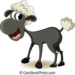 vector illustration of funny sheep cartoon