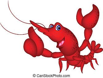 Funny shrimp cartoon character