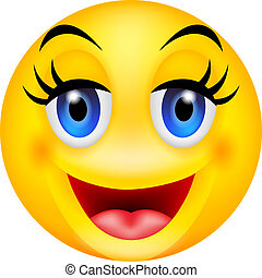 funny smile emoticon - vector illustration of funny smile...