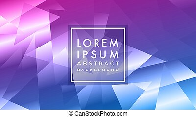 Vector illustration of futuristic abstract geometric pattern in cyberpunk multicolor gradient with shiny effect. Background design template suitable for banner, wallpaper and other project