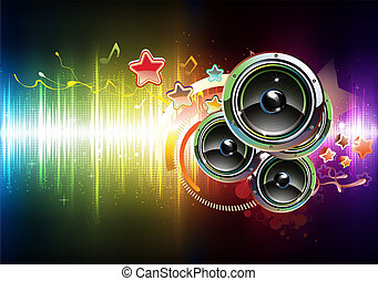 glowing party background - Vector illustration of futuristic...