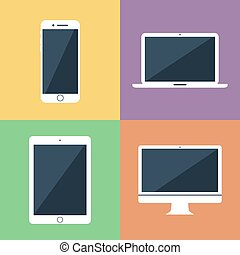 Vector illustration of gadget icons