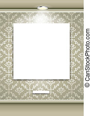 Gallery Interior with empty space - vector illustration of...