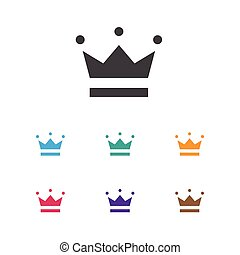 Vector Illustration Of Gambling Symbol On Crown Icon. Premium Quality Isolated Coronet Element In Trendy Flat Style.