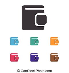 Vector Illustration Of Game Symbol On Wallet Icon. Premium Quality Isolated Billfold Element In Trendy Flat Style.