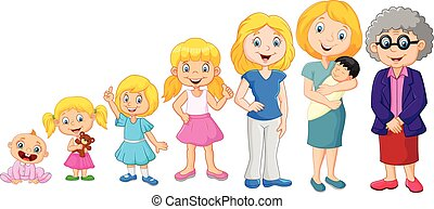 Generations woman. - Vector illustration of Generations ...