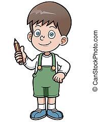Genius Boy - Vector illustration of Genius Boy vector