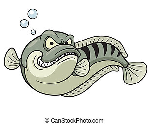 Giant snakehead fish - Vector illustration of Giant...