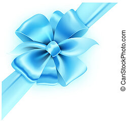 blue ribbon and classic bow