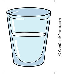 glass of water - vector illustration of glass of water