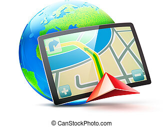 Vector illustration of global positioning system concept