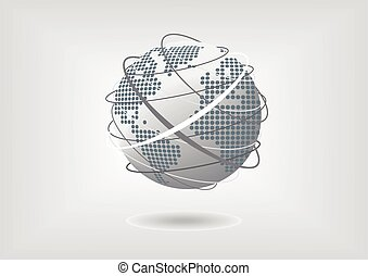 Vector illustration of globe