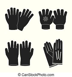 Vector illustration of glove and winter symbol. Set of glove and equipment vector icon for stock.