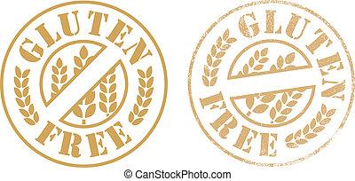 Gluten free rubber stamp ink - Vector illustration of Gluten...
