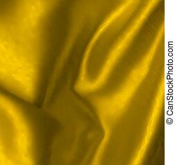 Vector illustration of gold drapery - Gold Satin