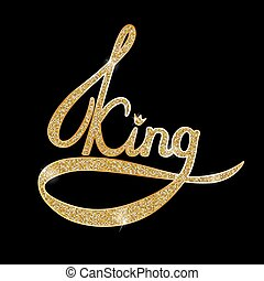 Vector illustration of gold king
