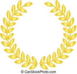Vector illustration of gold laurels