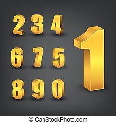 Gold number set