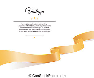Gold ribbon - Vector illustration of Gold ribbon