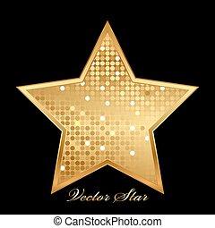 gold shiny star