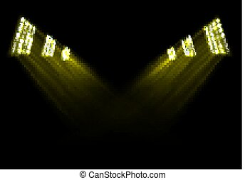 Gold stage lights background