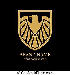 Golden Eagle crest shield logo